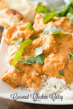 Easy and crazy delicious coconut curry chicken even for those who are afraid of trying new things ohsweetbasil.com