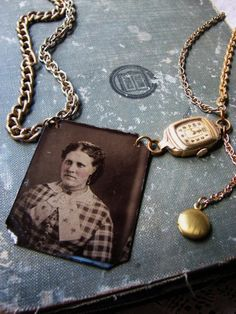 old photo necklace