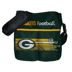 Green Bay Packers Messenger Diaper Bag  http://www.fansedge.com/Green-Bay-Packers-Messenger-Diaper-Bag-_525654076_PD.html?social=pinterest_pfid55-00373