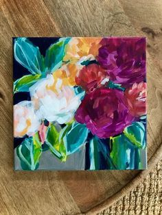 Grande Easy Flower Painting Step by Step. How to Paint Flowers for Beginner Artists. Learn how to paint flowers step by step . Easy Flower Painting, Flower Painting Canvas, Flower Canvas, Flower Art, Painting & Drawing, Flower Paintings, Art Paintings, Painting Process, Abstract Paintings
