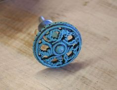 Turquoise Cabinet Hardware / Cabinet Knob / Home by VintageBlue74, $6.00