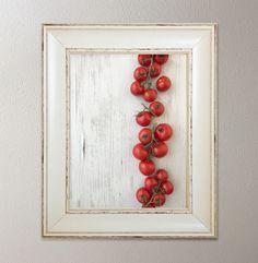 Organic Campari Tomatoes Art Print, Food Art, Vegetable Art Print, Kitchen Wall Decor, Modern Wall Decor, Dining Room Decor, Food Print by TheHarvestMercantile on Etsy https://www.etsy.com/listing/527126689/organic-campari-tomatoes-art-print-food