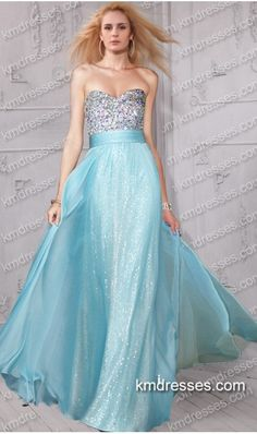 Aluring exquisite beaded floor length chiffon overlay sequin gown Blue Dresses  http://www.IkmDresses.com/Aluring-exquisite-beaded-floor-length-chiffon-overlay-sequin-gown-p59452