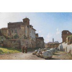 Veduta laterale del Foro Romano da Santa Francesca Romana verso il Campidoglio, Niels Frederik Schiottz-Jensen