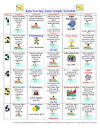 Deerkill Day Camp Sample Schedules  Pdf  Camp    Pdf