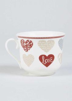 Heart Print Mug (11cm x 10cm) View 1