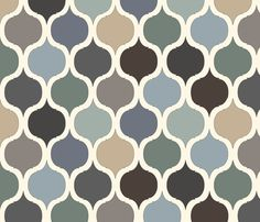 Moroccan Tile Print - Blue/Grey/Green fabric by gail_mcneillie on Spoonflower - custom fabric
