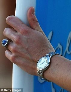 Kate adores the stylish stainless steel £3,600 Ballon Bleu de Cartier watch, which is embedded with a sapphire stone to match her Princess Diana engagement ring