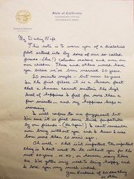 Ronald Reagan's note to his wife on the eve of their 20th anniversary