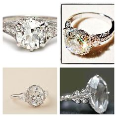 My dream rings...vintage Edwardian with a cushion or oval cut