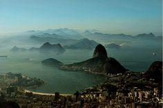Rio de janeiro brazil skyline aerial.