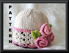 Knitting Pattern for Baby HatChildren por CottonPickings en Etsy, $4.99