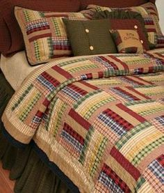 Six Bars Bedding Quilted Combo/ Like us on Facebook!  https://www.facebook.com/AllysonsPlaceDecor / #Primitive #country #Cabin