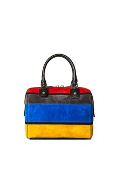 SUEDE HORIZONTAL STRIPES OLIVIA BAG by Alice + Olivia
