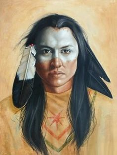 'A Distant Journey' is an oil painting on canvas, x The American Indian warrior has half his face paintedwhite. He wears an eagel feather and crow feathers. The Native American buckskin s. Native American Face Paint, Native American Tattoos, Native American Warrior, Native American Paintings, Native American Beauty, Native American Photos, American Indian Art, Native American Indians, Indian Paintings