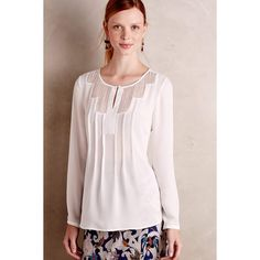 at anthropologie Navara Top - ivory Fashion 2017, Fashion Outfits, Gamine Style, Bohemian Tops, Blouse Outfit, Lace Peplum, Blouses For Women, Casual Dresses, Anthropologie