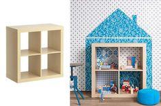 diy modern dollhouse from ikea expedit Ikea Expedit Bookcase, Ikea Shelves, Modern Dollhouse, Diy Dollhouse, Homemade Dollhouse, Ikea Regal, Diy Playhouse, Painted Playhouse, Playhouses