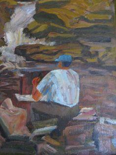 Oil Painting Man in Blue Cap by RatPackPackRat on Etsy, $18.50