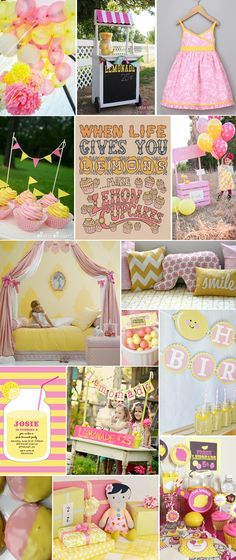 pink & yellow ideas