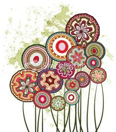 mexican flower art - Google Search