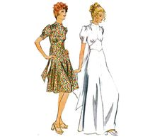 70s High Neck Dress Maxi Dress Pattern by allthepreciousthings