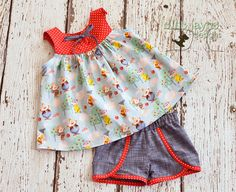 The Mine Train outfit Top and Shorts Snow White by EllieJayneDesigns