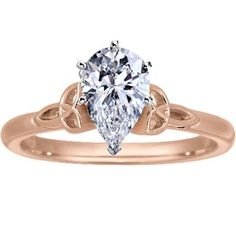 Celtic engagement ring in rose gold