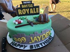Fortnite birthday cake.