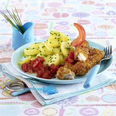 Selbst gemachte Fischstäbchen mit Tomatensalsa Rezept | LECKER