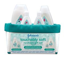 Johnson's Touchably Soft Newborn Gift Set is specially designed for families with newborns. It contains full-size and Tsa-compliant travel-size bottles of baby wash and shampoo and baby lotion, plus a 100 percent cotton nursery bin. Newborn Baby Gift Set, Baby Gift Sets, Newborn Gifts, Newborn Care, Baby Bedtime, Baby Skin Care, Baby Care, Best Baby Gifts, Baby Lotion