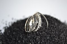 Grape VI . stacking silver rings semainier by LUNATICART on Etsy