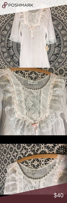 ... Dior Nightgown This vintage necklace Nightgown still has the original  Saks tag. Is a petite size small. So beautiful and classic. Dior Intimates  ... e4c6b6a58