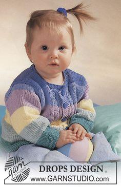 DROPS Babyjacke aus Muskat oder Paris und Socken aus Safran ~ DROPS Design