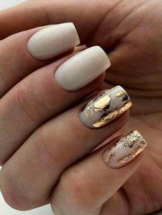 Gold Nails, Silver Roses, Winter Nails, Nail Art, Beauty, Hair, Beleza, Nail Arts, Cosmetology