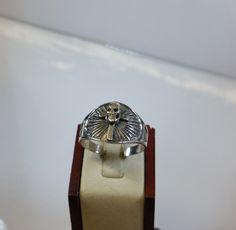 213 mm Ring Silber 925 Totenkopf Kreuz alt SR553 von Schmuckbaron