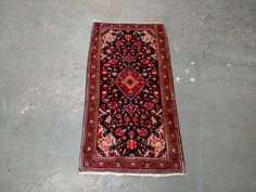 1980s Hand-Knotted Blue Sarouk Persian Rug (3351) by carpetshopprincess on Etsy