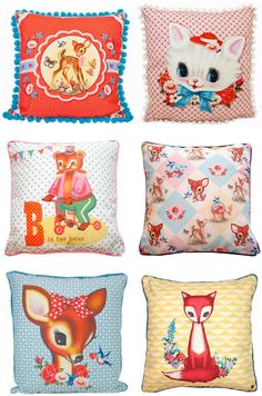 A little pillow crazy lately- more from dumpling dynasty. Especially love the top two :)