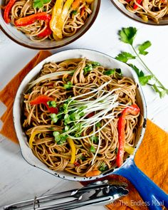 Blog post at The Endless Meal : These Soy Ginger Noodles are a healthy, vegetarian and gluten-free dinner. They are also easy to make and great as leftovers. You will LOVE [..]