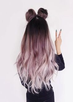 Ombre Hair Color Ideas that you'll absolutely love - hair - HAIR Ombre Hair Color, Cool Hair Color, Purple Ombre, Ombre Rose, Unique Hair Color, Dyed Hair Ombre, Cute Hair Colors, Purple Rose, Hair Colour Ideas