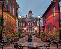 Looking Down Parry Court Courtyard At The Old Lake County Courthouse Grand Lady In Crown Point Same As Image Cropped For Diffe