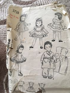Simplicity pattern3728 Pattern for dolls clothes