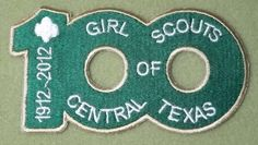 Girl Scout of Central Texas 100th Anniversary patch.