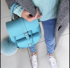 Cambridge Satchel, Leather Backpack, Backpacks, Instagram Posts, Blue, Fashion, Moda, Leather Backpacks, Fashion Styles