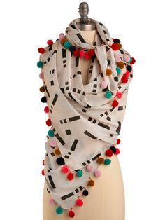 pom pom scarf / snood