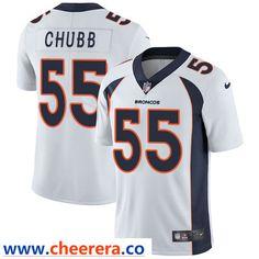 b3b53de3e22 Nike Denver Broncos #55 Bradley Chubb White Men's Stitched NFL Vapor  Untouchable Limited Jersey