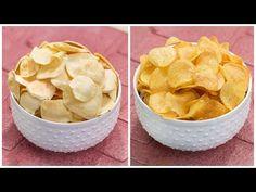 ১ বার বানিয়ে বছর জুরে খেতে পারবেন ২ টি ভিন্ন স্বাদের ক্রিস্পি পটেটো চিপস রেসিপি | Crispy Chips - YouTube Maggi Masala, Bangla Recipe, Crispy Chips, Low Calorie Snacks, Red Chili Powder, Crispy Potatoes, Potato Chips, Snack Recipes, Make It Yourself