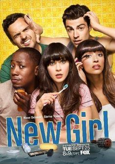 New Girl poster Metal Sign Wall Art 8in x 12in