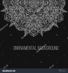 Business Card beautiful mandala ornament. Arabic and Indian style. Design template, banner Vector illustration.
