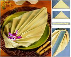 leaf  20+ Best DIY Napkin Folding Tutorials for Christmas | www.FabArtDIY.com
