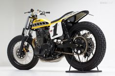 Yamaha XS650 dirt tracker by Jeff Palhegyi Design - Hitec rear LED, Goodyear dirt track rubber